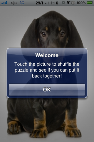 Dachshund Slide Puzzle screenshot #2