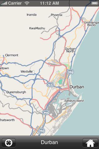 iMapsPro - Durban screenshot #1