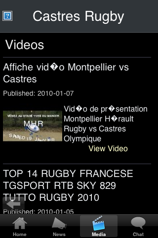 Rugby Fans - Castres screenshot #3
