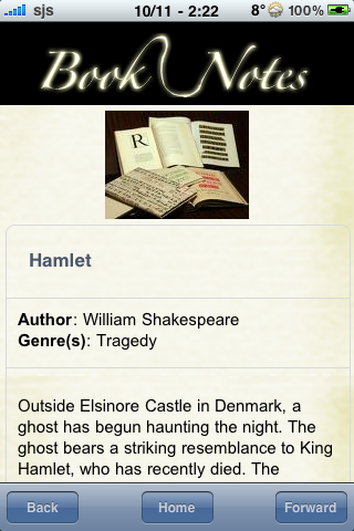 Book Notes - Hamlet screenshot #3