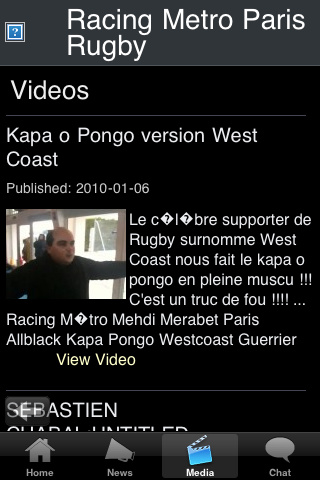 Rugby Fans - Racing Metro Paris screenshot #2