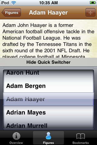 All Time Arizona Football Roster screenshot #3