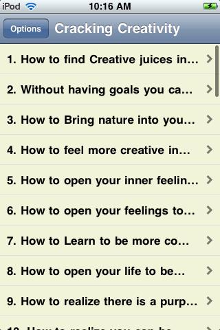 Cracking Your Creativity screenshot #2