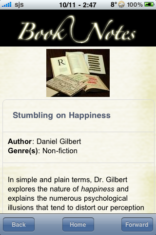Book Notes - Stumbling on Happiness screenshot #3