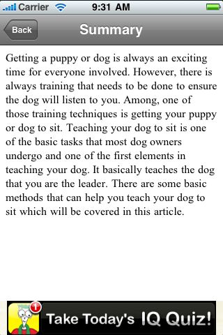 iGuides - Teach Your Dog To Sit screenshot #3