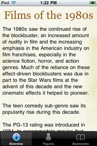 1980's Movie Almanac screenshot #1