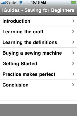 iGuides - Sewing for Beginners screenshot #2