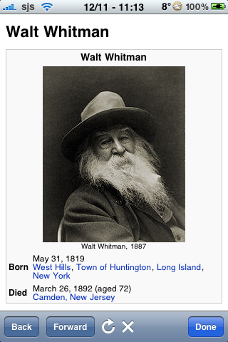 Walt Whitman Quotes screenshot #1