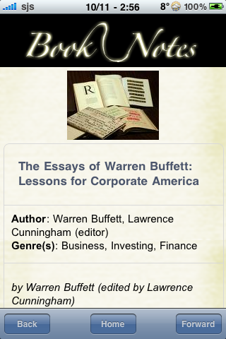 Book Notes - The Essays of Warren Buffett: Lessons for Corporate America screenshot #3