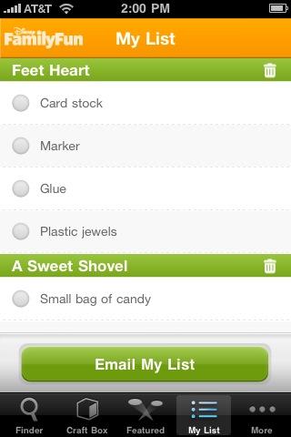 Craft Finder: Great Crafts from Disney FamilyFun screenshot #5