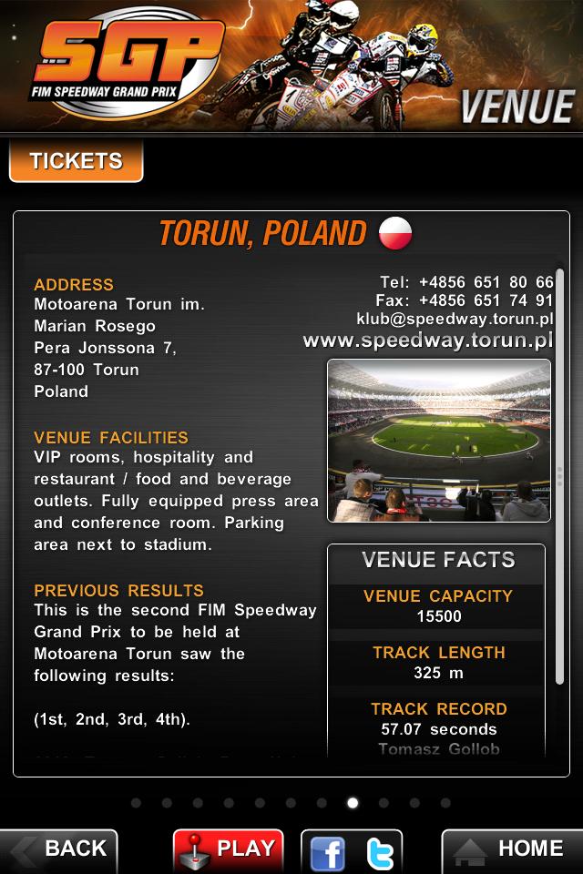 Speedway GP 2011 Official App screenshot #3