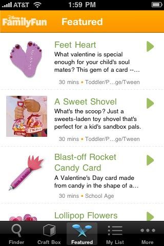 Craft Finder: Great Crafts from Disney FamilyFun screenshot #2