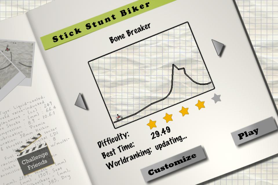 Stick Stunt Biker Lite screenshot #1
