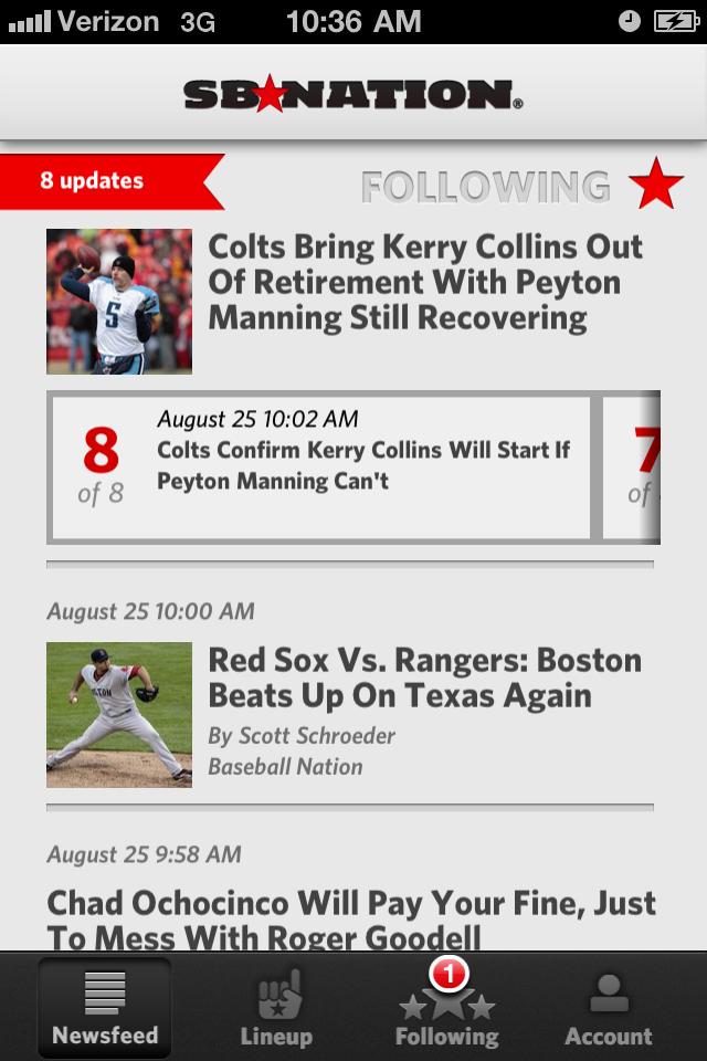 SB Nation - Sports News screenshot 1