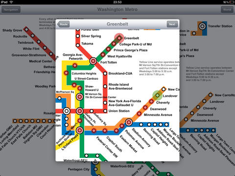 Washington Metro for iPad screenshot 4