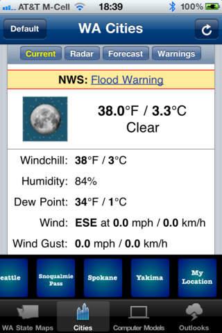 One Touch Weather - WA State screenshot 3