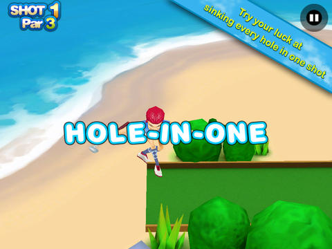 3D Beach Mini Golf HD screenshot 4
