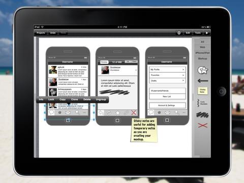 iMockups for iPad screenshot 1