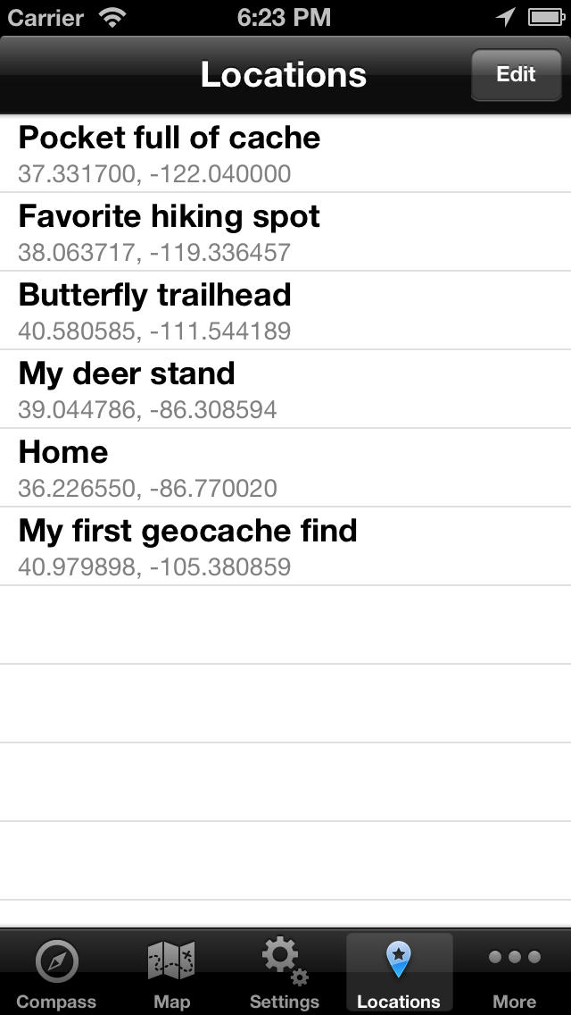 Travel Compass - Geocaching GPS Location Finder screenshot 4