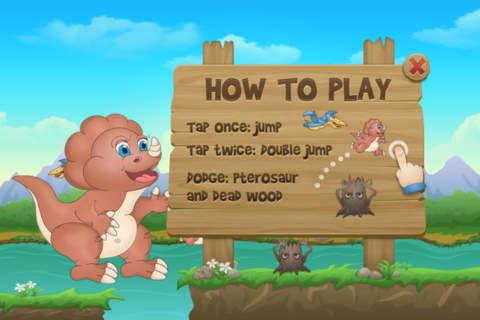 Baby Dino Run Free - Dinosaur Running Kids Game - náhled