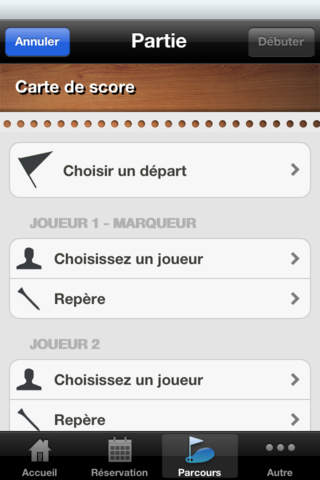 App-Golf - náhled
