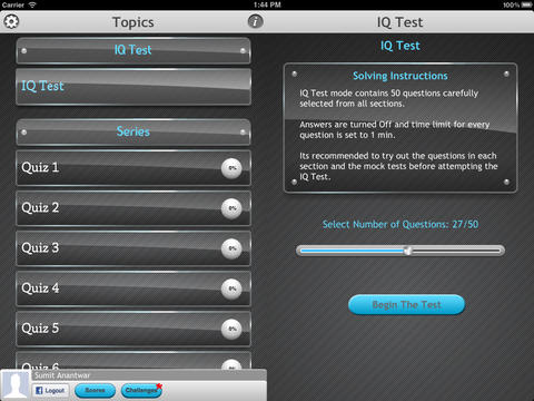 Intelligence Series : IQ Test Lite screenshot 7