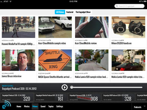 Engadget for iPad: Tech news covering the world of consumer electronics screenshot 5