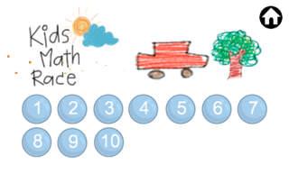 kid math race lite screenshot 2