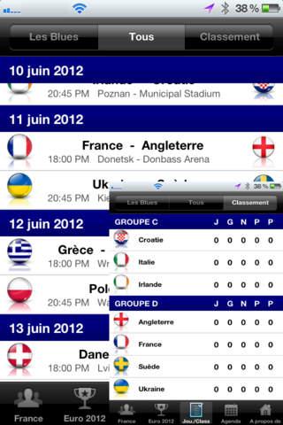 Euro 2012 France screenshot 4