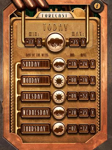 Steampunk Weather screenshot 8