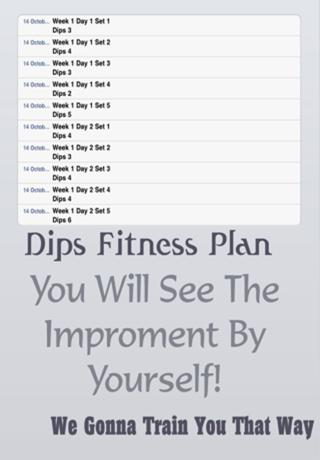 Dips Fitness Plan screenshot 4