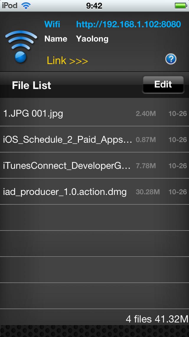 Mobile Disk HD screenshot 1