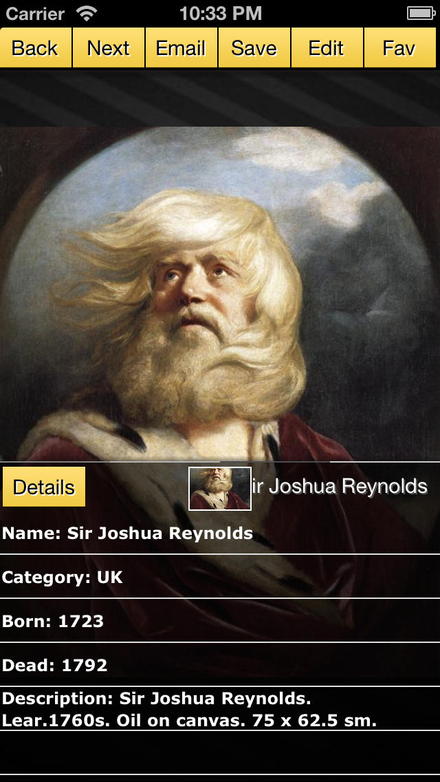 Sir Joshua Reynolds screenshot 1