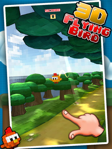 Flappy Chick 3D - tap to flap screenshot 4