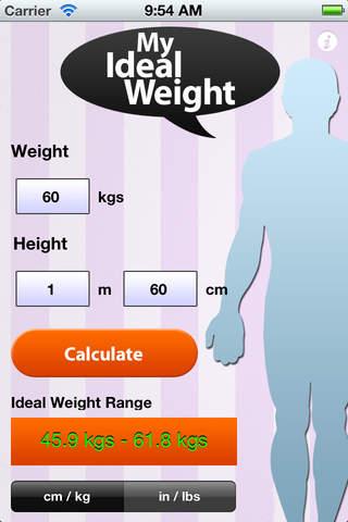 My Ideal Weight Calculator screenshot 2