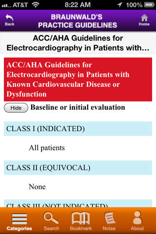 Braunwald's Practice Guidelines screenshot 4