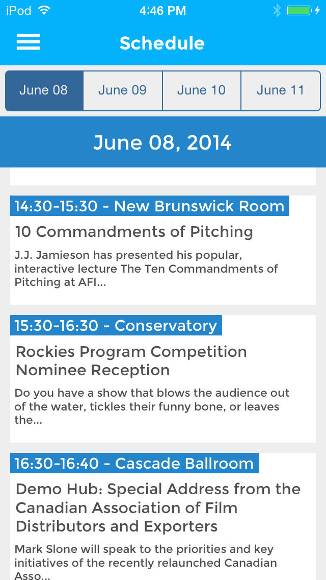 Banff World Media Festival screenshot #4