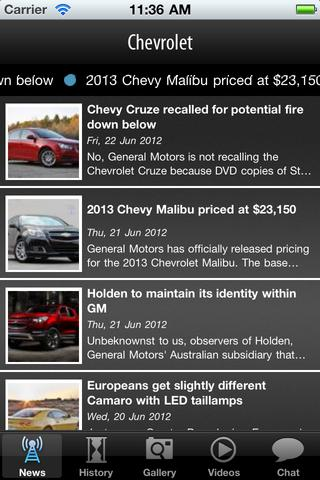 Chevrolet screenshot 1