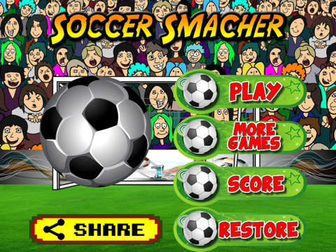 A Soccer Smasher - Multiplayer Goalkeeper Crushes Footballs in the Dream League Cup Team screenshot 7