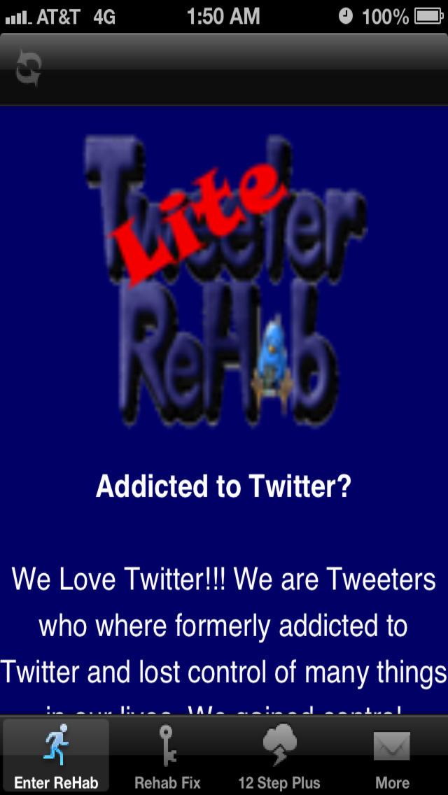 Tweeter Rehab Lite screenshot 1