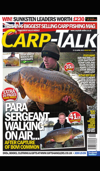 Carp-Talk – UK's top selling carp fishing magazine screenshot 1
