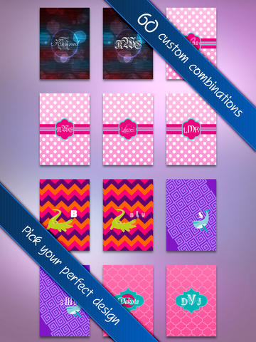 Magical Monograms HD FREE - Customized Designer Wallpaper, Backgrounds and Icon Skins screenshot 4