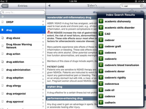 Taber's Medical Dictionary - 22nd Edition screenshot 9