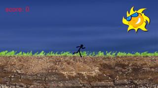 Cartoon Stickman: Jump And Run On Road screenshot 1