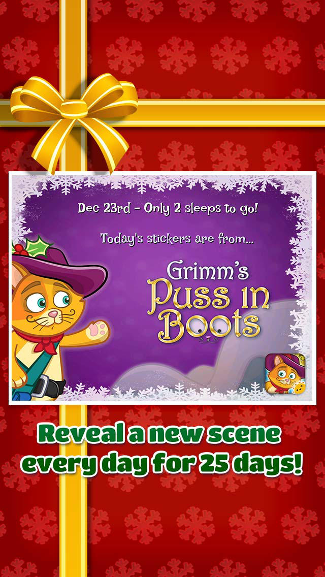 Holiday Countdown ~ 3D Interactive Sticker Book screenshot 3