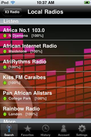 X3 Chad Radios - Les radios du Tchad screenshot 2