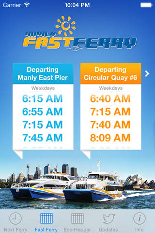 Manly Fast Ferry Info - náhled