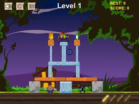 Cowboy Pixel Tower Free - Knock Them Off And Crush The Structure! screenshot 7