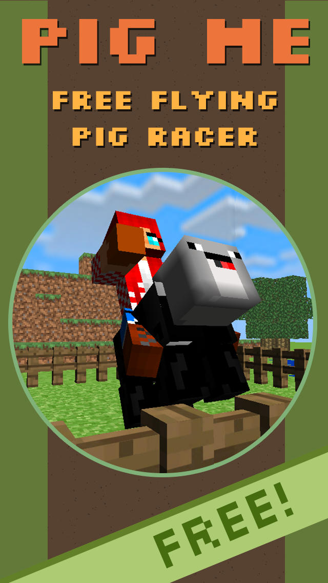 PigMe Farm Craft 3D - Flying Pig Racer and Skin Changer screenshot 1