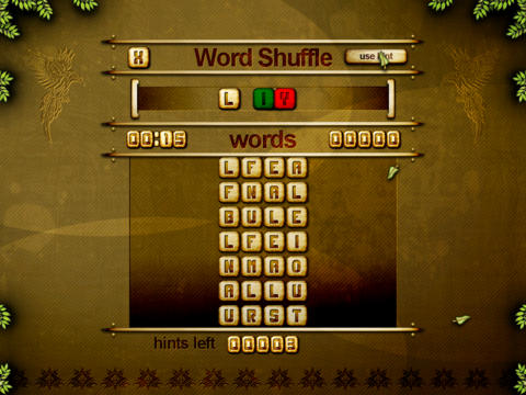 ACC Word Shuffle HD Free - classic puzzle games screenshot 1